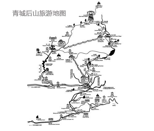 都江堰旅游地图