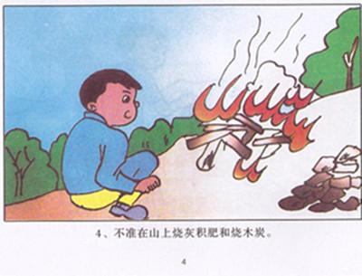 森林防火素描漫画
