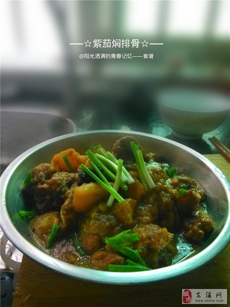 我的食谱――紫茄焖排骨【申精】