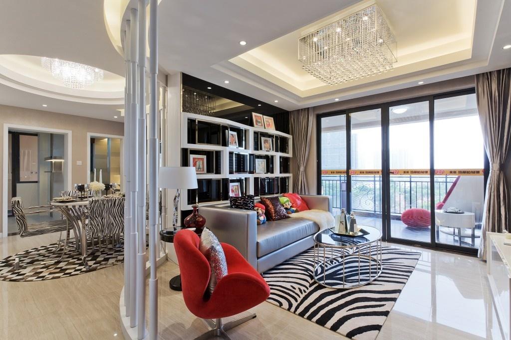 80平米小户型客厅地板砖装修效果图