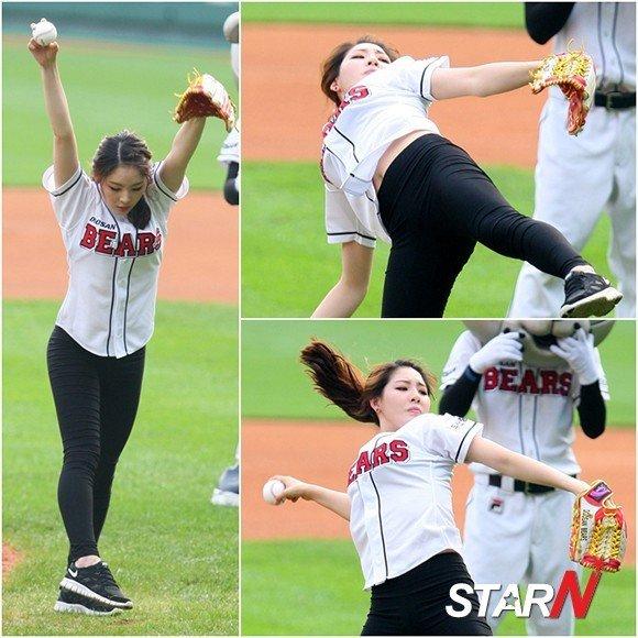 韩国美女看过来~~~韩国艺体美女助阵棒球联赛