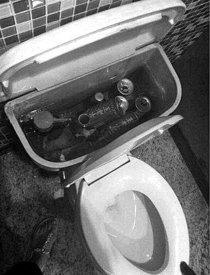 [转贴]温州一酒店马桶蓄水箱里存饮料