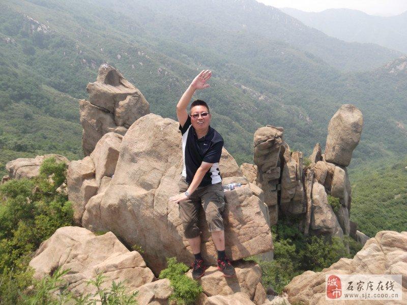 石家庄西山森林公园爬山p1 高清图片