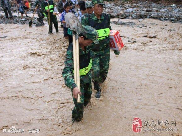 [贴图]徽县暴洪救灾,献给最可爱的人