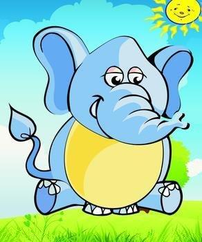 难过大象卡通图片