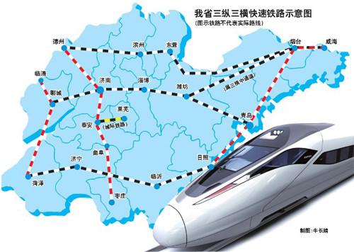 青岛至曲阜铁路路线图