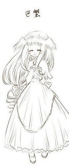 铅笔简笔画美少女