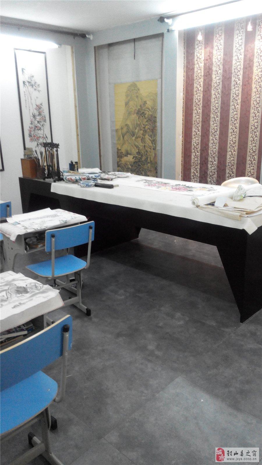 牡丹女画家在铅山创办书真画室