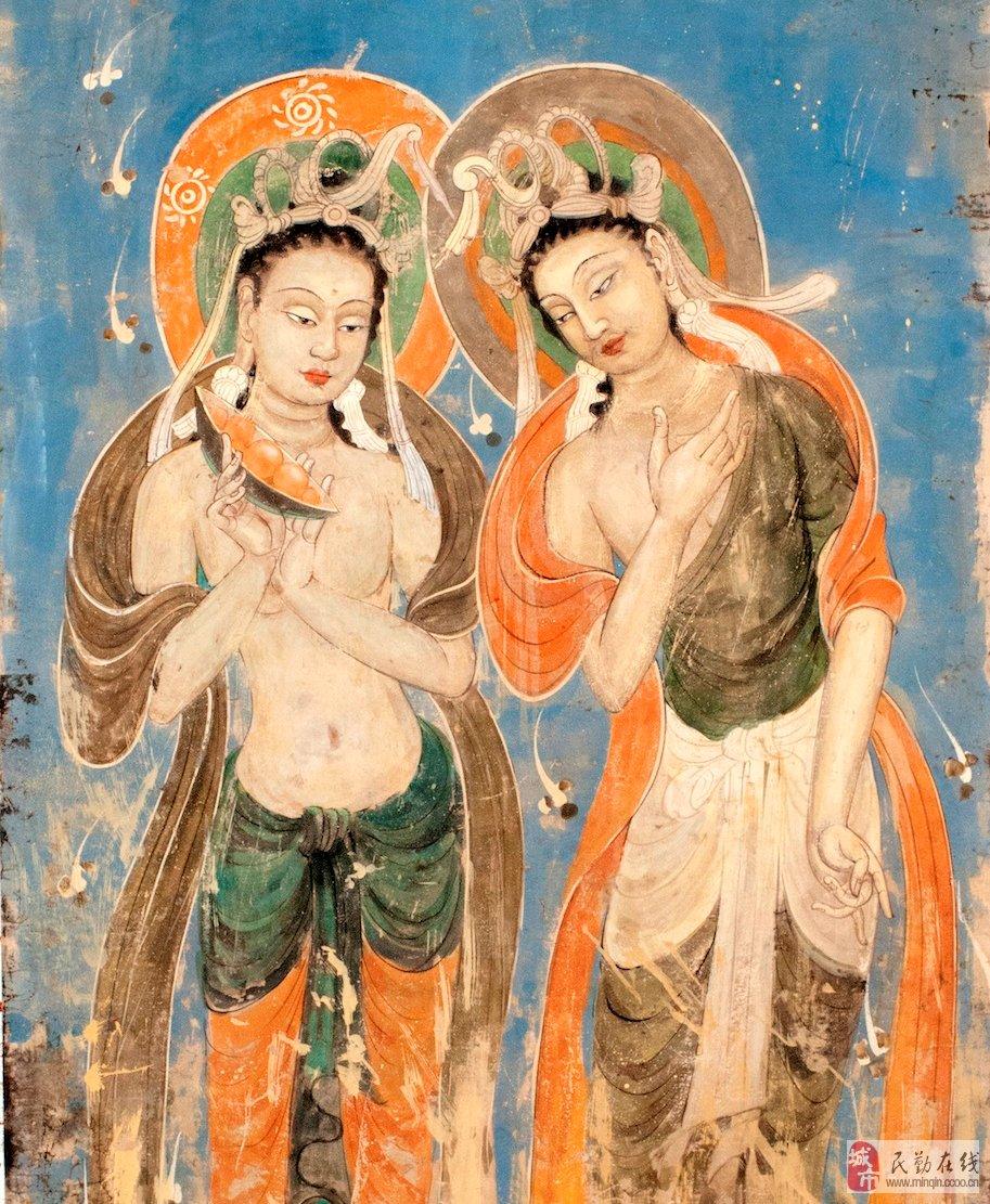 敦煌壁画临摹——-莫高窟428窟菩萨