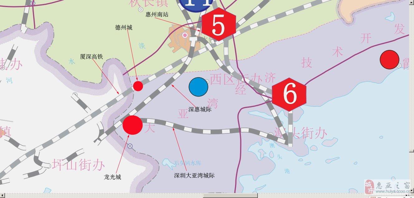 厦深铁路和京九客专将在惠州南站交汇