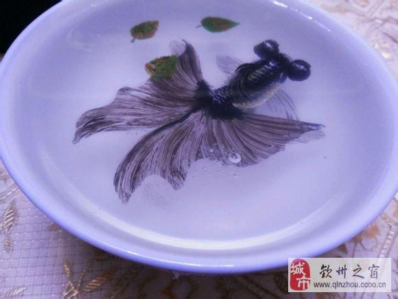 【震精】树脂金鱼画