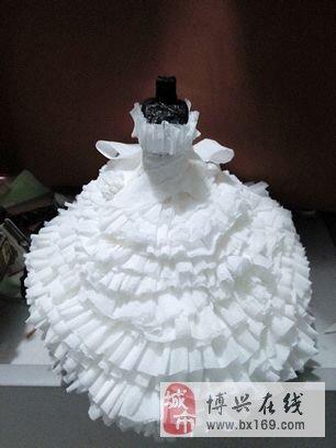 信息中心 手工纸婚纱   幼儿手工制作废物利用纸做衣服买张关于这方面