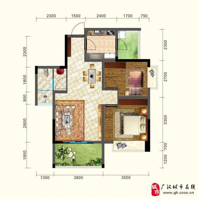 广汉汉东豪庭 汉东豪庭户型图 2013广汉新楼盘(图片)
