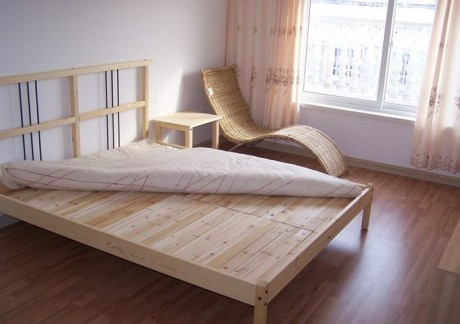 房间高箱储物男童木板床设计图图片
