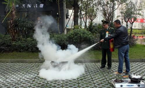 泸州119消防安全宣传活动进小区