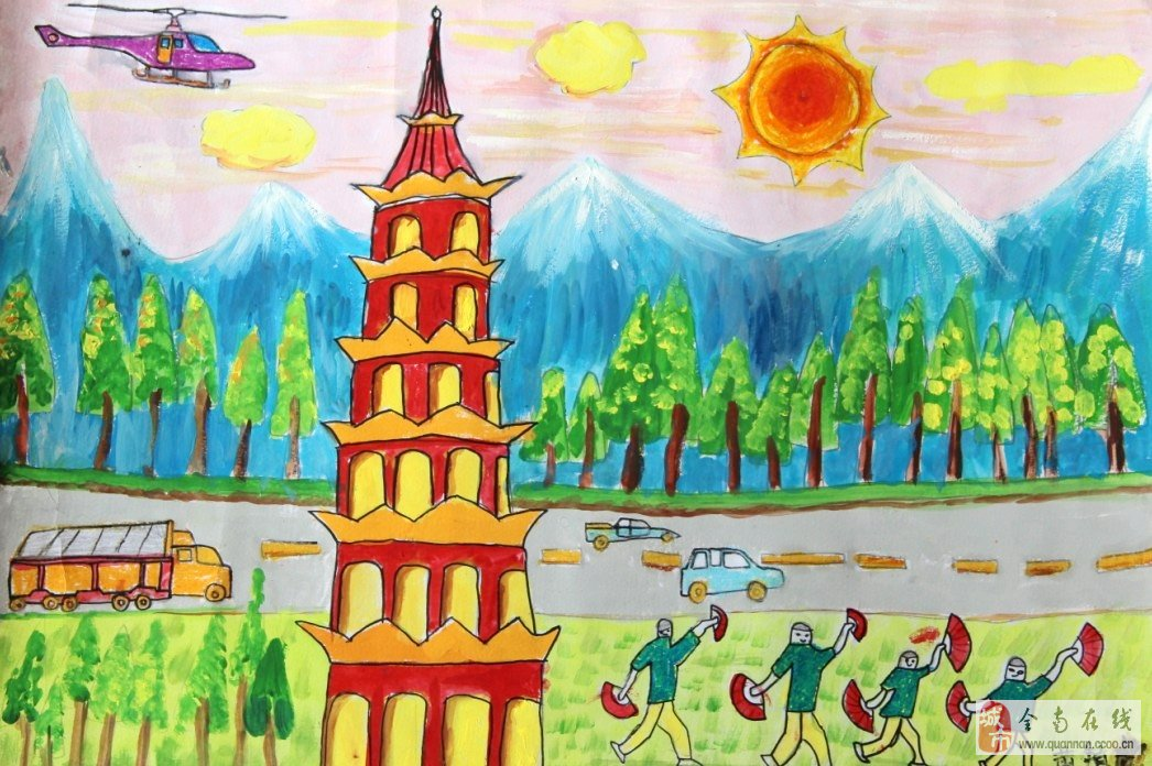 小学生画画大街简笔画内容图片展示小学翟营作品v大街图片
