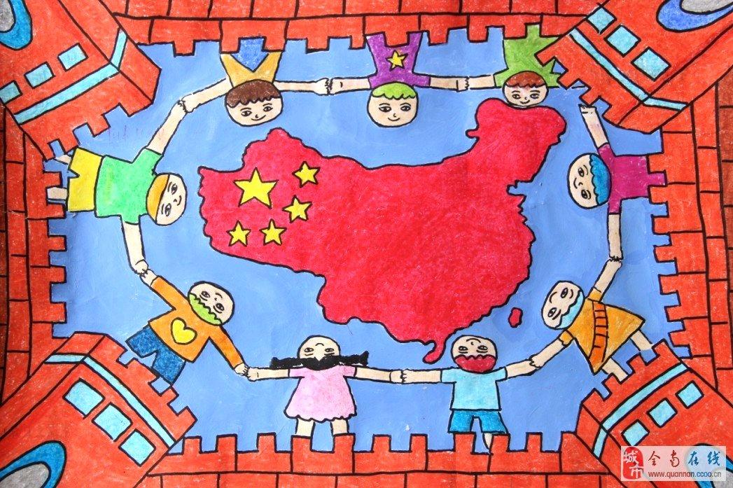 全南小学生中国梦家乡美绘画作品