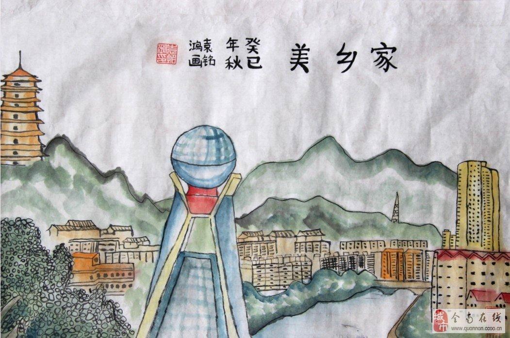 小学生家乡美简笔画