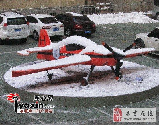 这是一架飞机模型,因为制作精致