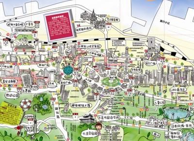 织金手绘地图大pk