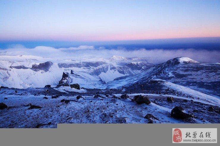 冬季的长白山