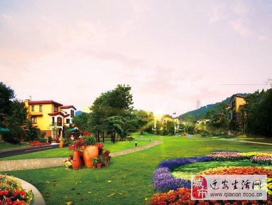 迁安碧桂园,园林以欧式皇家园林风格设计,苑区主干道以立体园林风格设