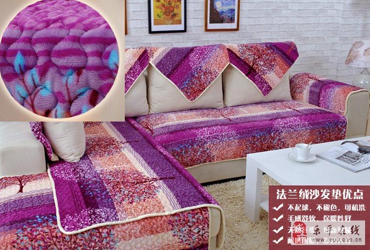 毛线毛绒沙发坐垫:毛线编织坐垫也是一个错的选择
