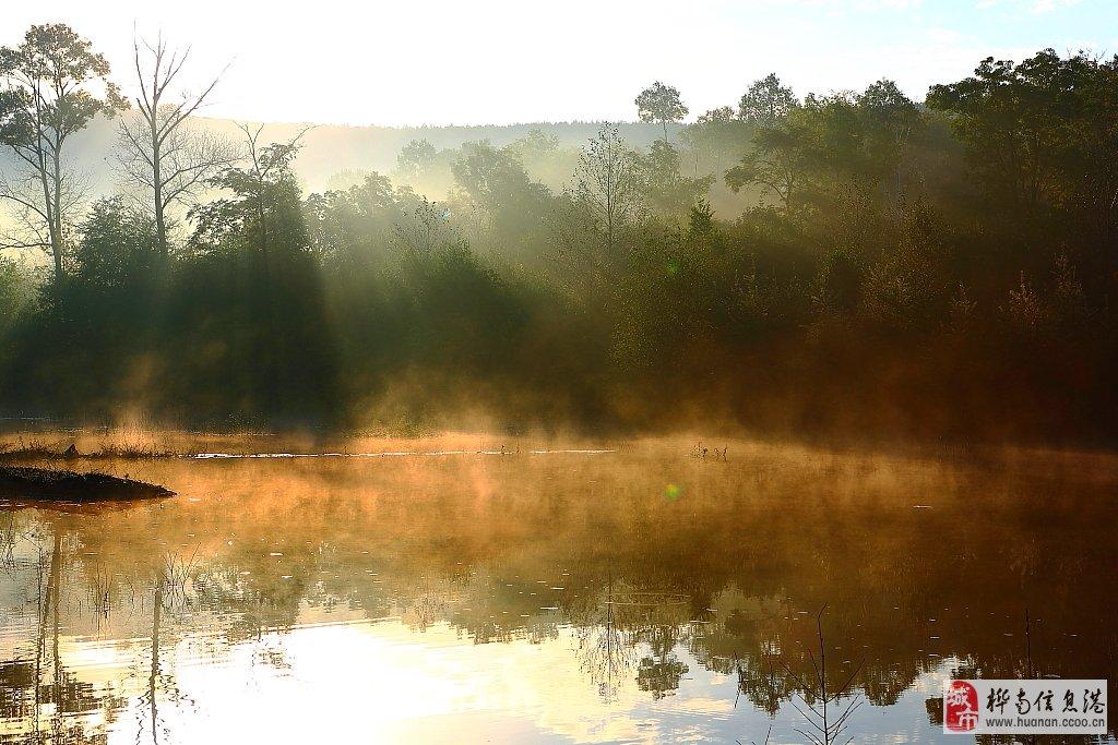 曼妙的山野晨霧