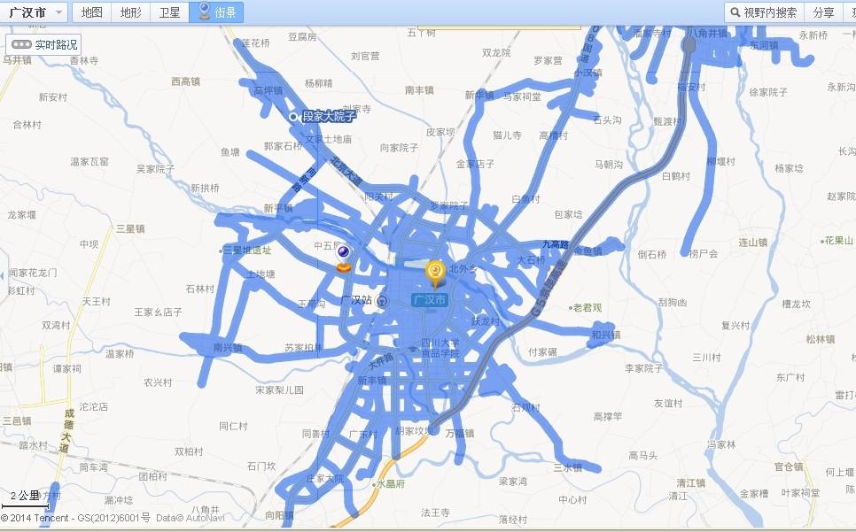腾讯soso地图出广汉街景了图片