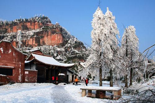 大雪图片风景图画