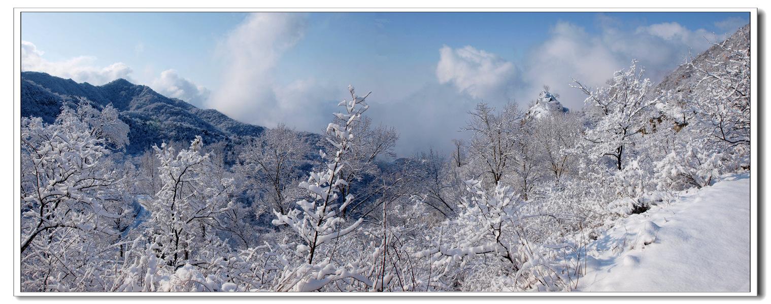 淘宝雪风景背景素材