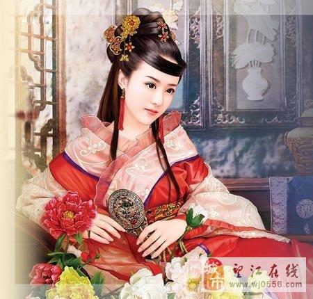 古代皇后衣服简笔画