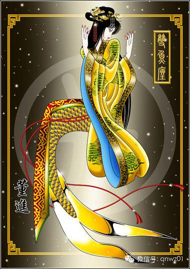 手绘12星座中国汉服版
