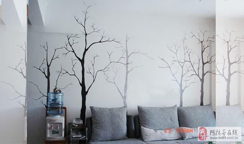 客厅配手绘墙画要求