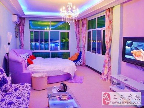 紫色欧式卧室图片