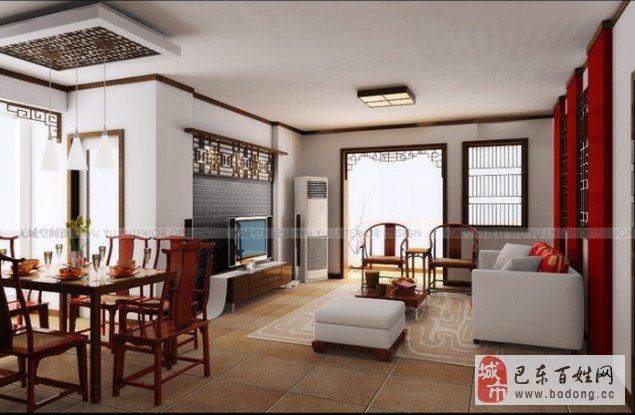 作品名称:新中式客厅设计 作品分类:房间类型&gt客厅 房屋类型&gt三居 风格&gt中式 主色调&gt棕色 价格&gt5-10万 设计说明: 客厅与餐厅的吊顶处理采用了餐厅局部重点突出的吊顶手法,因为这个餐厅的结构特殊,比较狭长,如果不独立处理那势必会造成由于吊顶面积过大而显得客厅会客空间狭小局促,所以把餐厅独立处理,客厅的功能分区自然而然就出来了。客厅与餐厅的顶部再加以胡桃实木线的修饰,给整个空间的顶部 起到画龙点睛的作用。让吊顶变得轻松、自然、和谐,又起到了划分功能分区的作用。由于餐厅空间不大,没有