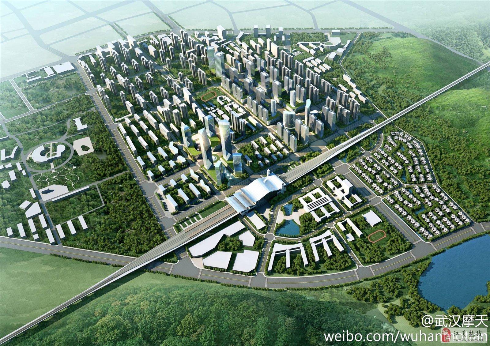 江夏纸坊城东新城发展规划全景效果图图片