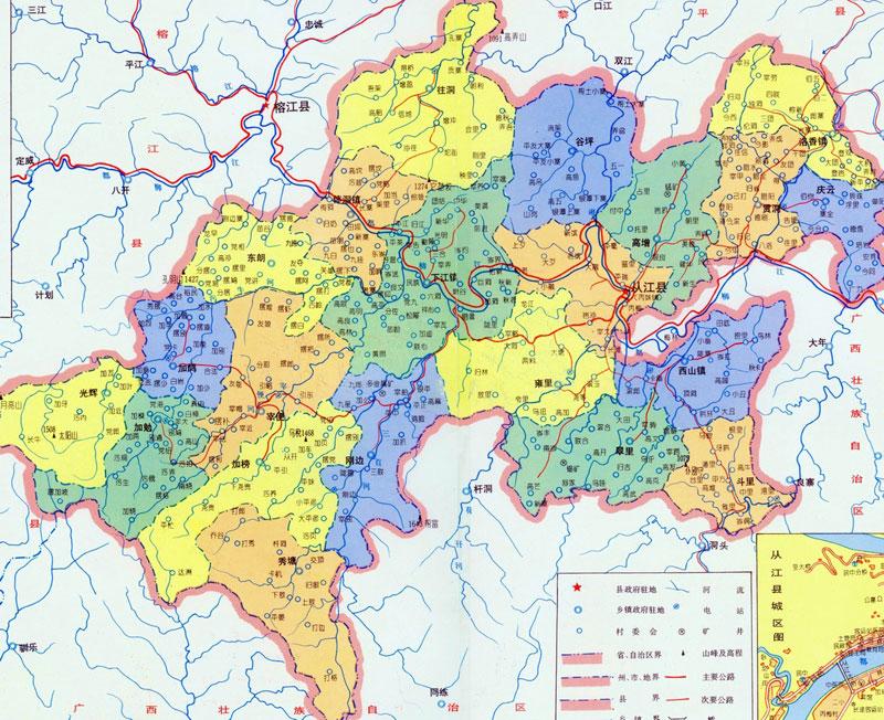 自治州东南部; 贵州都匀地图;;