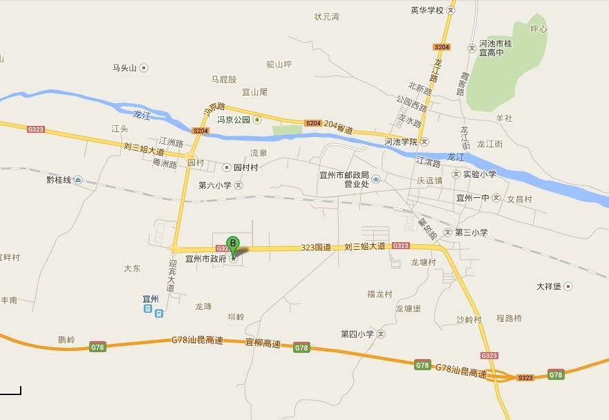 宜州地图导航_宜州辖区导航_城市中国搜索(ccoo)