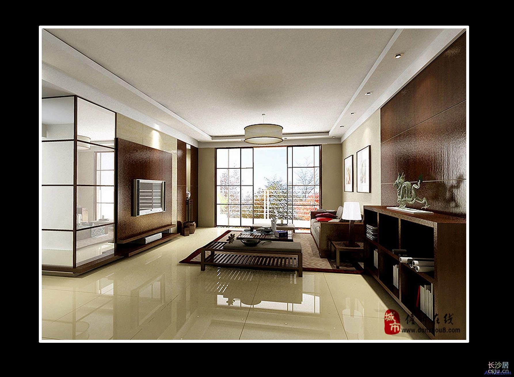 2009客厅效果图 三居室室内装修设计效果图 高清图片