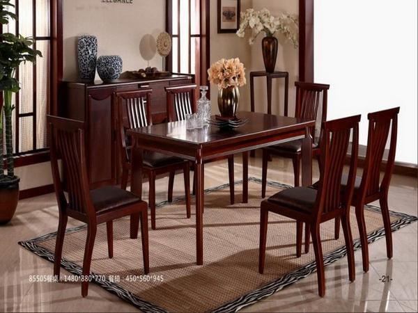 全友中式风格餐桌椅