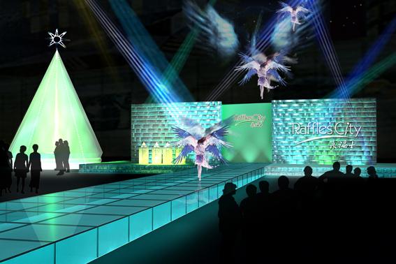舞台t台展示设计效果图灯箱效果图