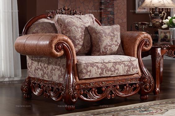 欧式古典 实木雕花沙发套装
