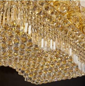【飞雕】现代金色客厅led金色水晶吸顶灯fd2-bx1107