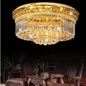 【飞雕】现代金色客厅/餐厅圆形led金色水晶吸顶灯fd2
