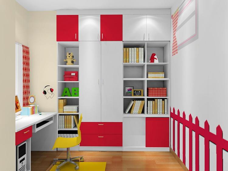 儿童高低床   商品详情:     【衣柜亮点】 (1)衣柜连体书柜,巧妙设计