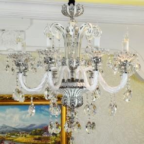 【飞雕】现代智能情景灯客厅灯led灯饰水晶8头吊灯fd2