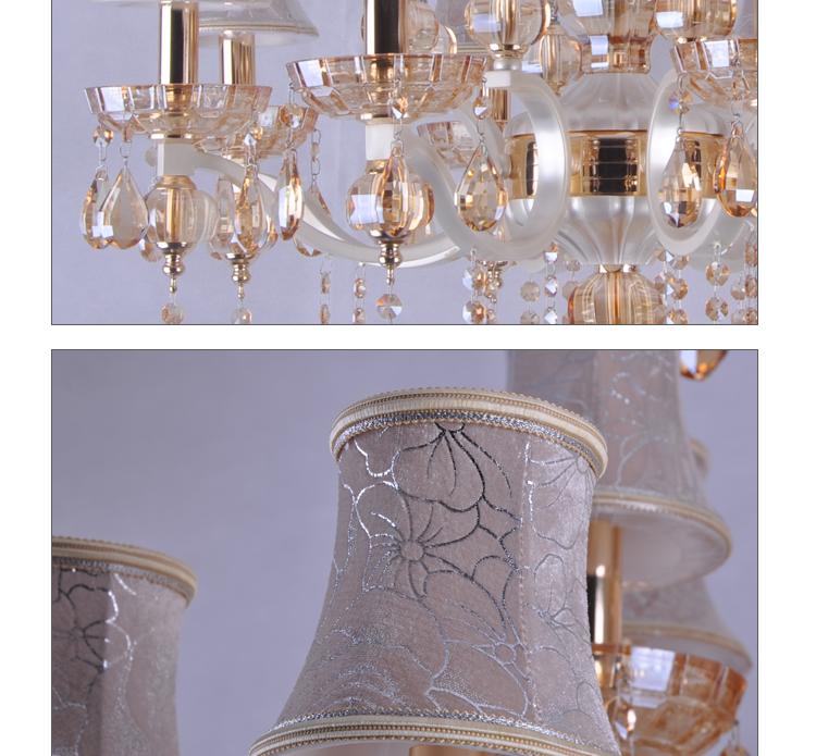飞雕水晶灯; 【飞雕】欧式经典客厅灯led灯饰水晶灯8头吊灯fd2-bo0;