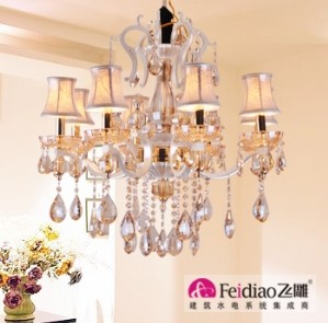 【飞雕】欧式经典客厅灯led灯饰水晶灯8头吊灯fd2-bo0