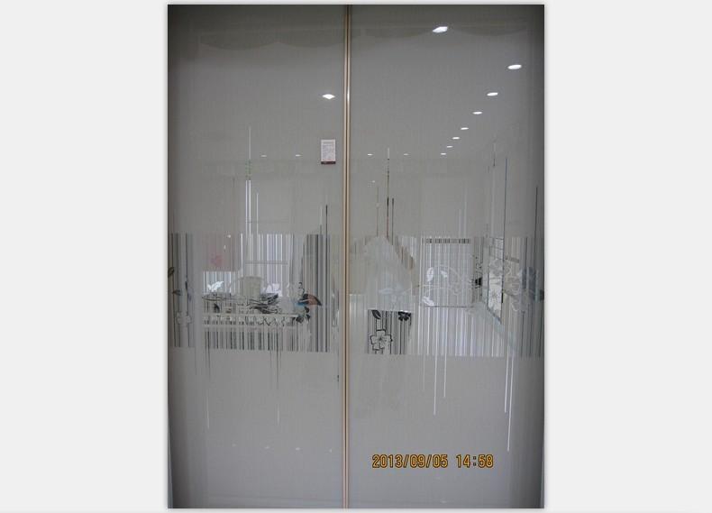 灰色欧式卧室壁橱推拉门